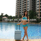 PVC fashion trolley case designed in Korea