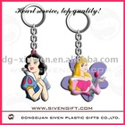 OEM colorful soft pvc key ring for promotion use