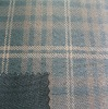 TC bronzing check suede fabric for fashion garment