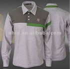 men's long sleeve golf sports polo t-shirt