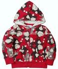 A2962#Fuchsia Baby boy monkey printed fleece hoody