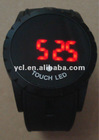 Funny magic LED Touch Screen Silicone Jelly Men Boy Sport Wrist Watch