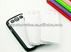 Hot Sale Sublimation cell phone cases for Galaxy SIII i9300 ( White, Black and Clear available!!!)