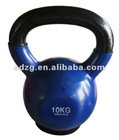 10kg vinyl coated kettlebell with anti-slip rubber pad
