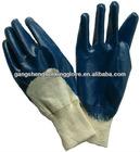 cotton interlock liner nitrile 3/4 dip gloves