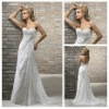 Beach Casual Short Train Sweetheart Design Spanish Lace Wedding Dresses 2012