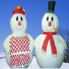 happy christmas inflatable snowman couple