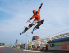 new jumping stilt new poweriser flyjumper skyrunner powerskip powershoes,fly shoes,christmas gift,new model