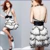 2010 newest style X-2031 zhenzhen soft net beaded prom dress