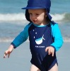 OEM color long sleeves soft child kids swimsuit
