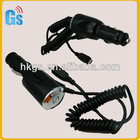 Black Color Car Mobile Charger I/P 12-24V O/P 5.1V-1.0A For Samsung Galaxy SIII i9300/Galaxy S2 i9100/Galaxy Note i9220