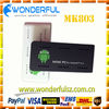 2013 newest 1GB of high performance DDR3 RAM android wifi tv box MK803