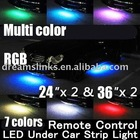 "Brand New WIRELESS REMOTE Multi-Color Under Car LED Glow Neon Light Kit (2*36""+2*24"") RGB"