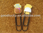 Promotion shaped flexible soft pvc paper clip for kids