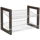 Two layers standing shoes cabinet rack shelf PFRACK9802