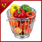 Stainless steel high wire fruit basket