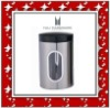 stainless steel canister with black paint lid