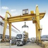 Double beam gantry crane with hook