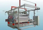 Chinese Four roll calender machine for fabric,leather and plastic in India.