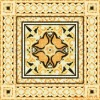 medallion and mosaic