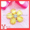 fashion flower rhinestone buttons