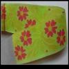 Floral polyester webbing ribbon