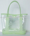 (XHF-LADY-009) clear pvc shoulder bag for lady