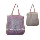 Pink flower elegant shopping bags
