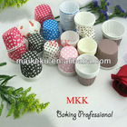 Pet laminated paper muffin baking cups, muffin cases