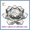 Lotus Shape T-light Glass Candle Holder