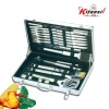 functional BBQ set with aluminum case