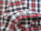 100% cotton flannel madras fabric