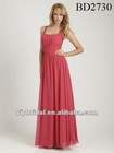Elegant chiffon floor length wine bridesmaid dresses