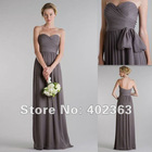 Wholesale 2012 Hot !FE12043 Sheath/ Column Sweetheart Floor-length Chiffon Bridesmaid Dress