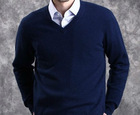 Mens 100% cashmere silk sweater/high class Italy cashmere pullover