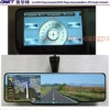 4.3 inch Bluetooth Interior Rear View Mirror with Built-in GPS Navigation with DVR,Radar,Camera, FM/AM