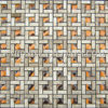 Emperador Marble Mix Glass Mosaic tile