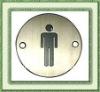 Concise Metal Male Restroom Door Sign