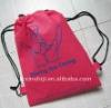 190D drawstring shopping bag, promotional eco shopping bag