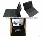 Silicon Wireless Bluetooth Keyboard + Leather case for Samsung Galaxy Note N8000 BLACK