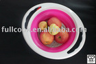 Foldable and colorful silicone food colander