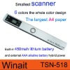 Winait's portable A4 Document scanner with Built in lithium battery