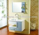 modern 60 cm wall hung MDF mirrored bathroom canbinet