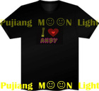 lastest el led light t-shirt for all kinds of party