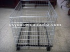 zinc plated foldable storage cage