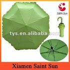Fashion Lady NEON metallic frilly foldable Umbrella