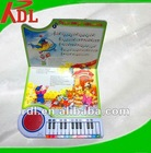 Funny education book with sound pad for kids