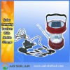 solar power camping lamp with AC Charge,mobile charge,FM radio