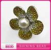 flower rhinstone finger ring