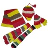 knitted acrylic scarf glove and scarf set